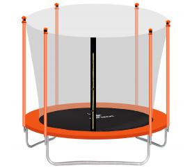 Aga SPORT FIT Trampolína 250 cm Orange + vnútorná ochranná sieť + schodíky