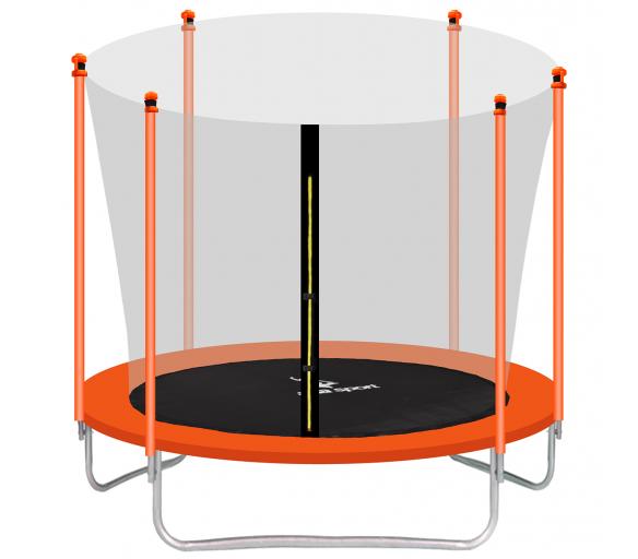 aGa SPORT FIT Trampolina ogrodowa 250cm 8ft z siatką wewnętrzną - Orange
