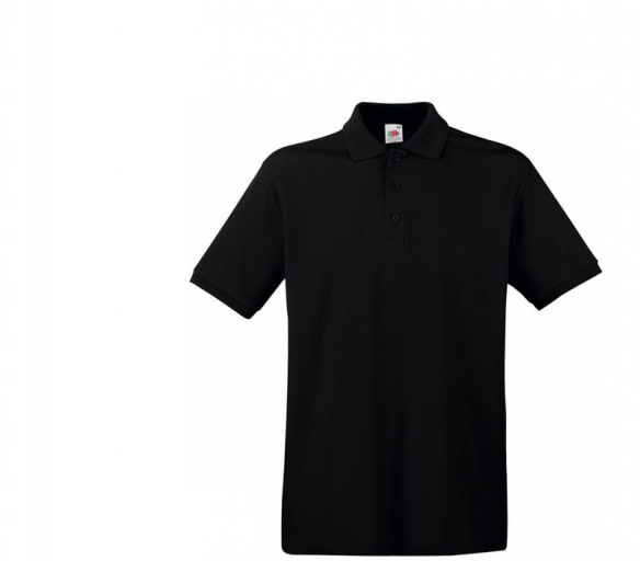 Fruit Of The Loom Tričko PREMIUM POLO Black