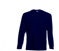Fruit Of The Loom Tričko VALUEWEIGHT Longsleeve Deep Navy