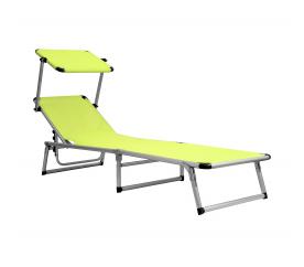 Aga Leżak z daszkiem ogrodowy plażowy GARDEN KING MC372310GG Yellow Green