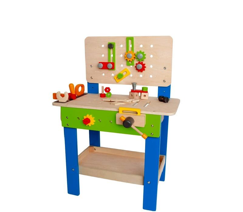 Wooden Toys Pracovný stôl KIDS WORKBENCH