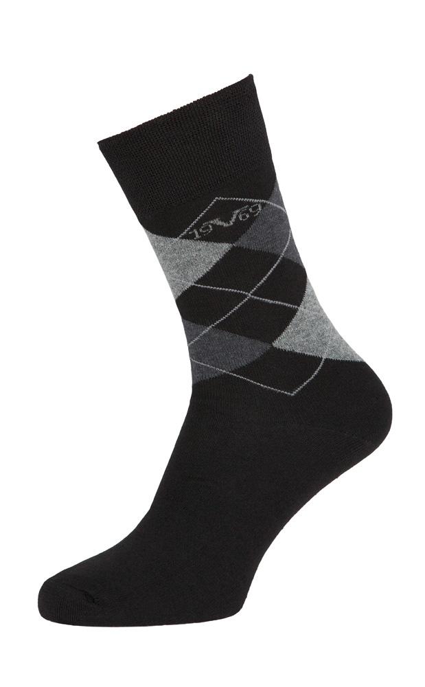 Versace 19.69 Ponožky BUSINESS 5-Pack Black-Grey (C173)