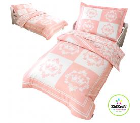 KidKraft Obliečky Micro CLASSIC PRINCESS 100x150, 60x75 cm ružové