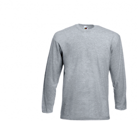 Fruit Of The Loom Tričko VALUEWEIGHT Longsleeve Grey