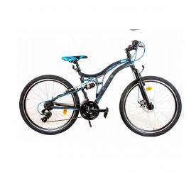 """Goetze Tough gyerek hegyi kerékpár 24"""" Fekete - kék"""