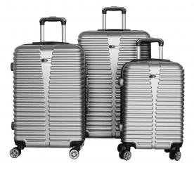 Aga Travel Zestaw walizek MC3078 S,M,L Silver