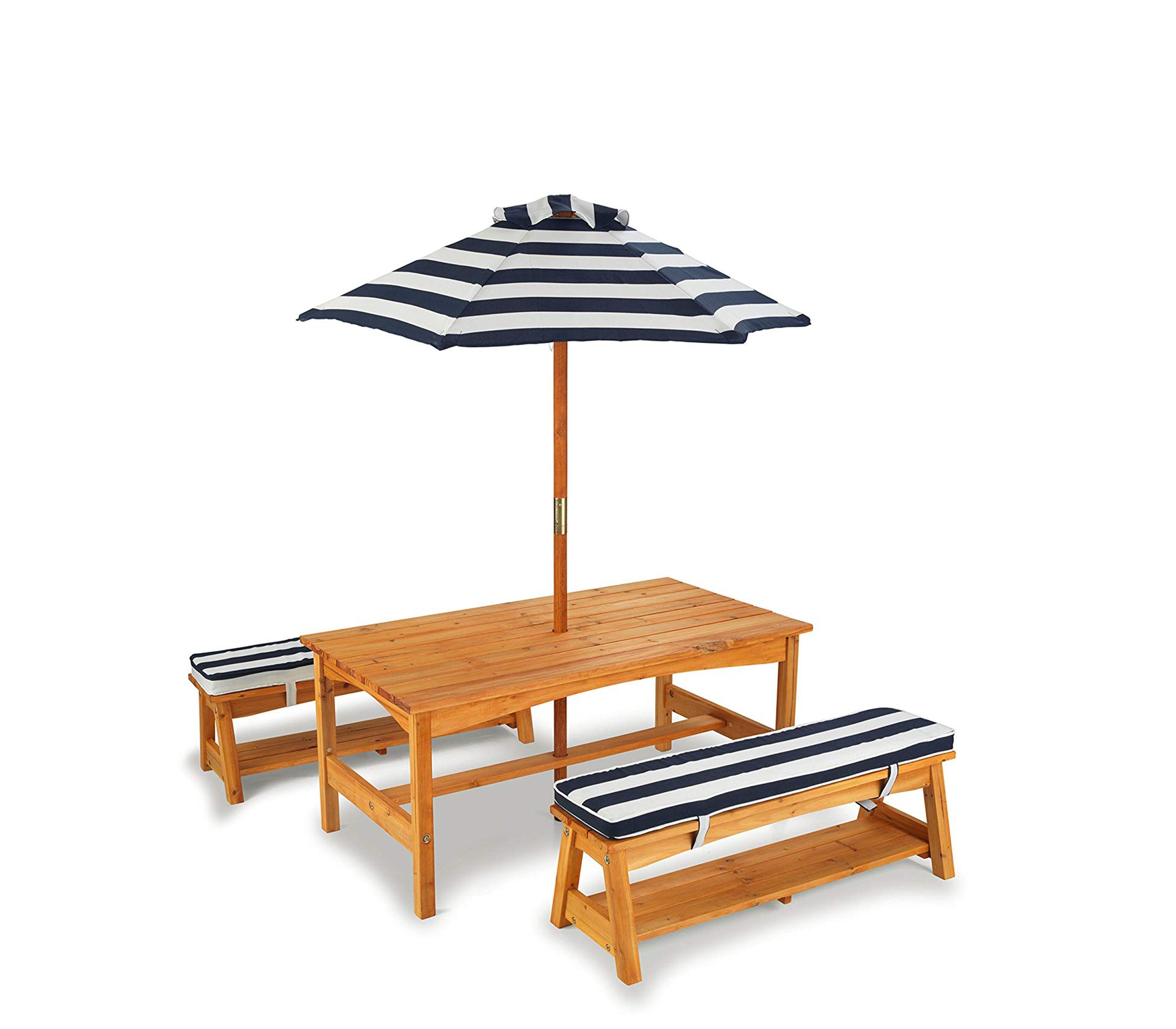 KidKraft Dětský zahradní stůl Bench Set 00106