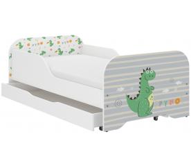 Wooden Toys Dětská postel Dino 140x70 cm