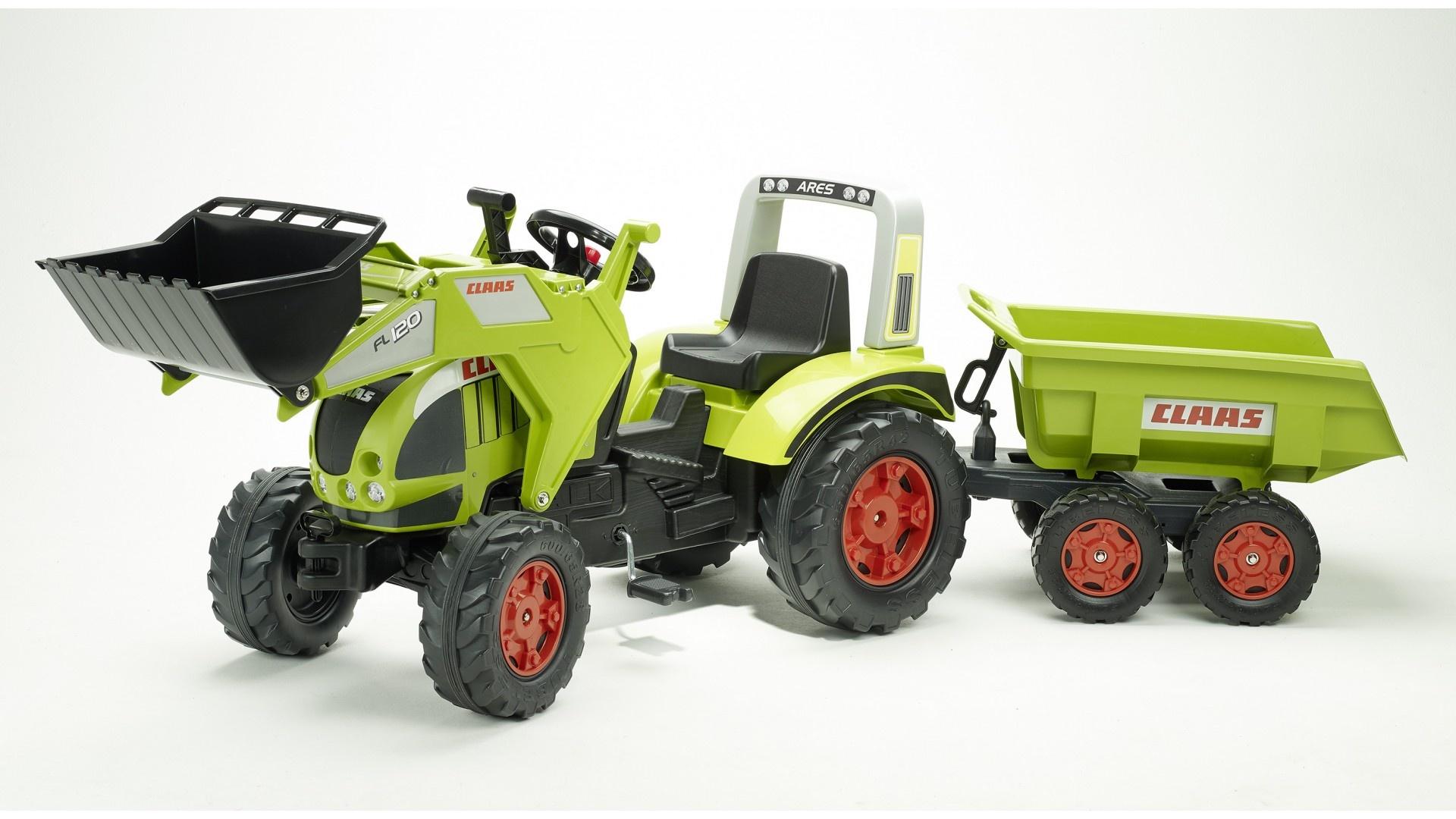 Falk Šlapací traktor CLAAS ARION 540 991P s vlečkou