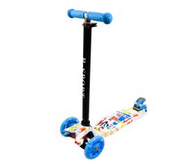 R-Sport Dětská třikolová koloběžka s LED kolečky H2 Dark Blue