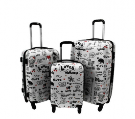 RGL Cestovní kufry 5188 XXL,XL,L Loves