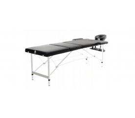 Aga Hliníkové masážní lehátko AT301 Black