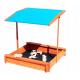 Aga4Kids Dřevěné pískoviště se stříškou 120 cm Blue