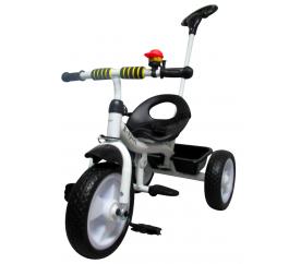 R-Sport Dětská tříkolka T5 s vodící tyčí Bílo-Černá