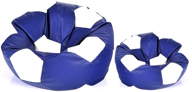 Aga Sedací vak BALL Farba: Tmavo modrá - Biela