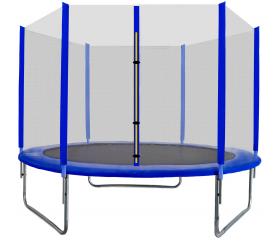 Aga SPORT TOP Trampolina ogrodowa 305 cm 10ft z siatką zewnętrzną - Blue