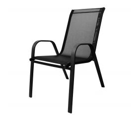 Aga Krzesło ogrodowe ALU STAPEL MR4400BC Black