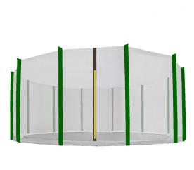 Aga Siatka do trampoliny 488 cm 16ft zewnętrzna na 12 słupków Black net / Dark Green