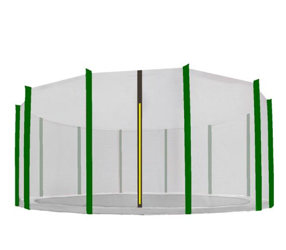 Aga Ochranná síť 488 cm na 12 tyčí Black net / Dark Green