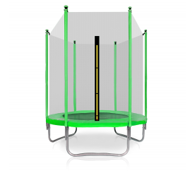 Aga SPORT TOP Trampolina ogrodowa 150 cm 5ft z siatką zewnętrzną - Light Green