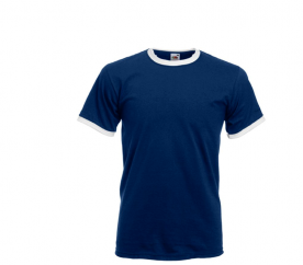 Fruit Of The Loom Tričko RINGER Navy White