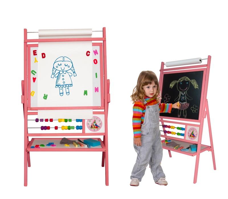Aga4Kids Dětská tabule BIG PINK TPR