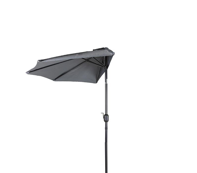 Aga Půlkruhový slunečník CLASSIC 270 cm Dark Grey