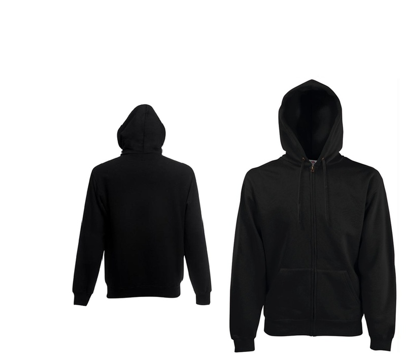 Fruit Of The Loom LIGHTWEIGHT HOODED SWEAT JACKET Black