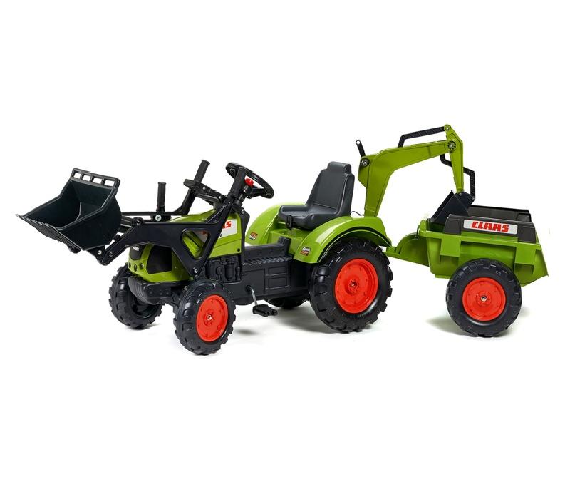 Falk Šlapací traktor CLAAS ARION 430 2070Y s vlečkou