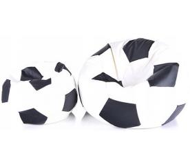 Aga Sedací vak BALL Farba: Čierna - Biela + podnožník