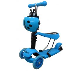 R-Sport Detská trojkolesové kolobežka 5v1 s LED kolieskami H3 Blue