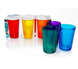 6 barevných párty sklenic Graneny - Graneny