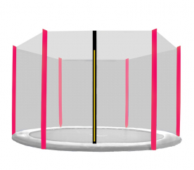Aga védőháló 250 cm trambulinhoz 6 rudas Black net / Pink