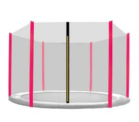 Aga Ochranná síť 250 cm na 6 tyčí Black net / Pink