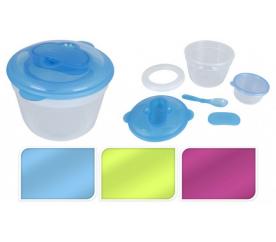 Pudełko na przekąski z wkładem chłodzącym, zestaw 2 szt., Okrągłe, zielone - ProGarden