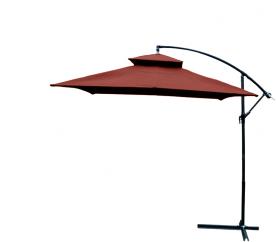 Aga Zahradní slunečník GARDEN 250x250 cm HD-018 Dark Brown