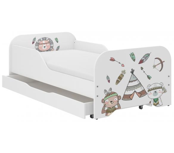 Wooden Toys Dětská postel Indián 140x70 cm