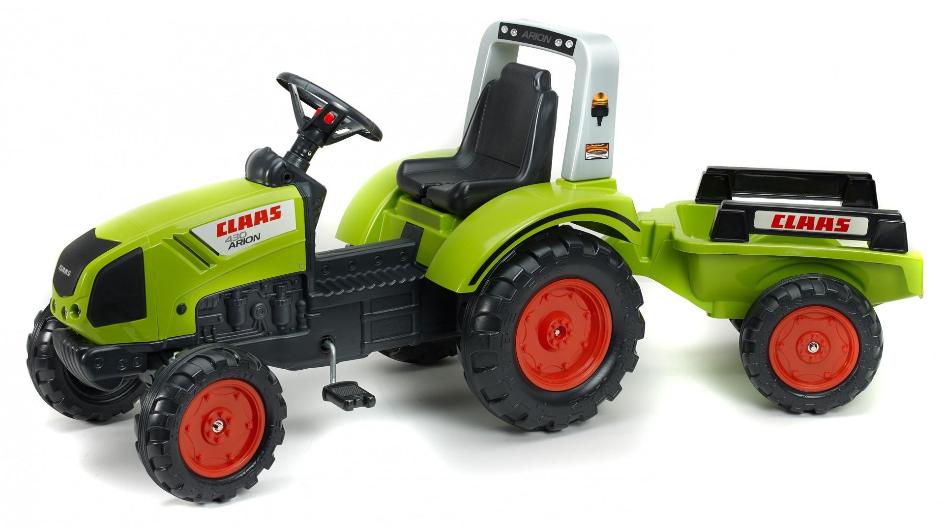 Falk Šlapací traktor CLAAS ARION 430 1040AB s vlečkou