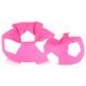 Aga Sedací vak BALL Farba: Biela - Ružová + podnožník