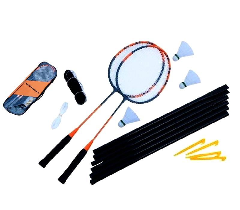Ultrasport Badmintonový set KLASIK 2-PACK + Siet'