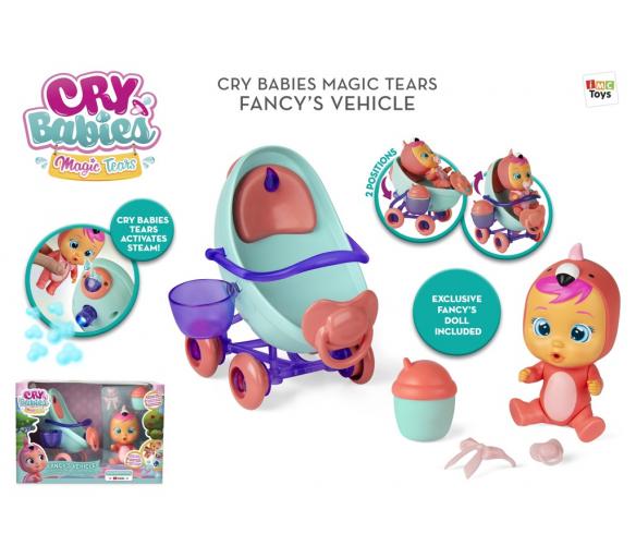 Panenka Cry babies magické slzy sada s kočárkem Fancy