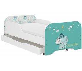 Wooden Toys Dětská postel Elephant 140x70 cm