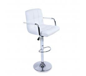 Aga Krzesło barowe z podłokietnikiem BH016 White