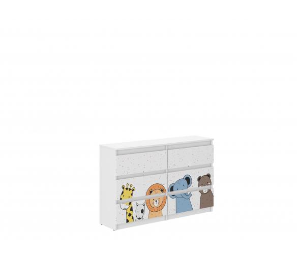 Wooden Toys Dětská komoda Mini ZOO R-120