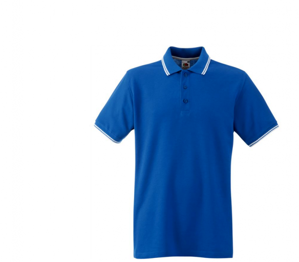 Fruit Of The Loom Tričko TIPPED POLO Royal Blue White