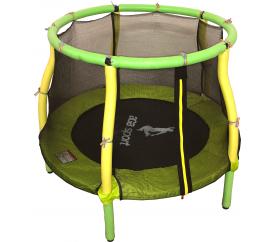 Aga Dětská trampolína 116 cm Light Green - Yellow + ochranná sieť