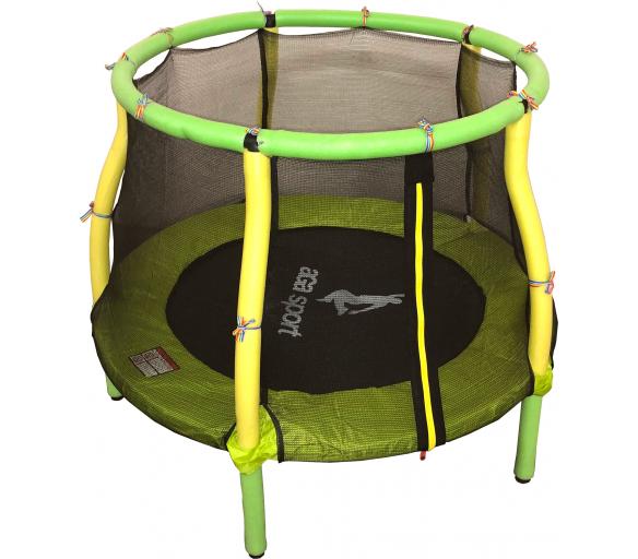 Aga gyerek trambulin 116 cm Light Green - Yellow + védőháló