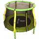 Aga Detská trampolína 116 cm Light Green - Yellow + ochranná sieť