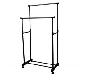 HomeLine Pojizdný stojan na šaty Double 145x43x160 cm